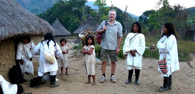 Oliver Driver mit den Kogi-Indianern