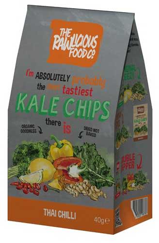 Rawlicious Grünkohl-Chips
