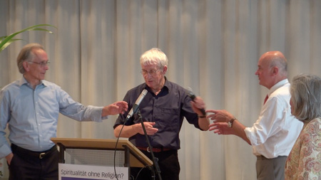 Stiftung Rosenkreuz: Dr. Gunter Friedrich, Dr. Joachim Kahl, Prof. Dr. Harald Walach (v. li. n. re.)