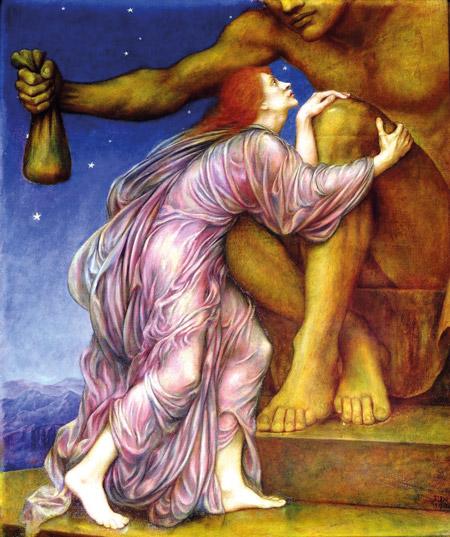 Worship of Mammon: »The worship of Mammon« (ca. 1909) von Evelyn de Morgan