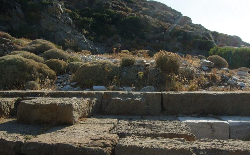 Reste des Tempels zu Ehren von Artemis, der Göttin des Femininen
