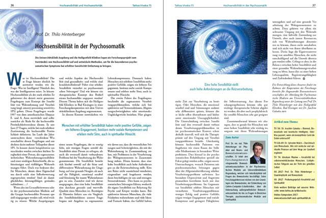 Prof. Dr.Thilo Hinterberger - Der komplette Artikel als PDF
