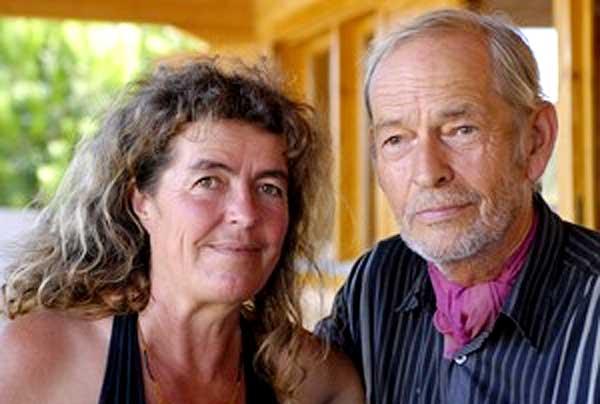 Dieter Duhm mit seiner Lebensgefährtin Sabine Lichtenfels
