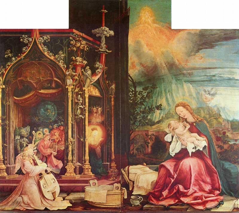 Mathis Gothart Nithart, genannt Grünewald: Ausschnitt vom Isenheimer Altar, 1512-1516