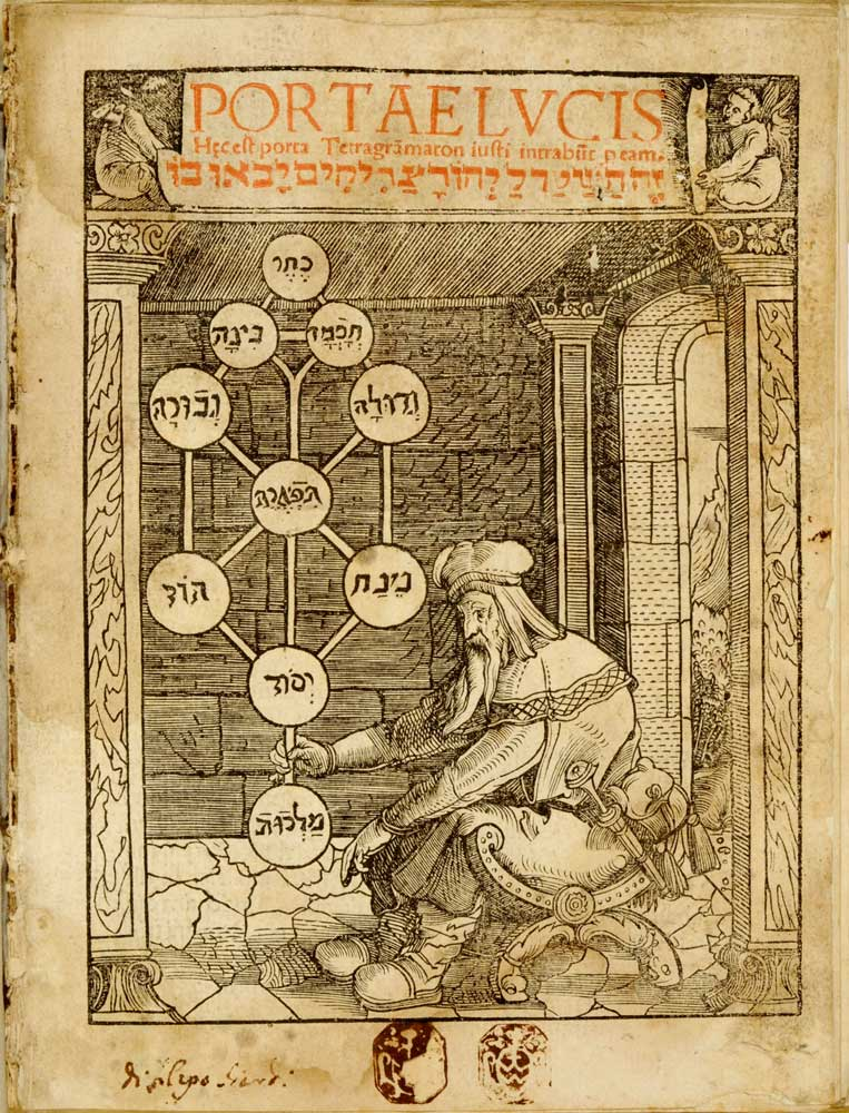 Im Werk Sha'are Ora oder lat. Portae Lucis von Josef Gikatilla (ca. 1248–1325) werden die Sefirot als »Pforten des Lichts« bezeichnet. Titelseite des Buches.
