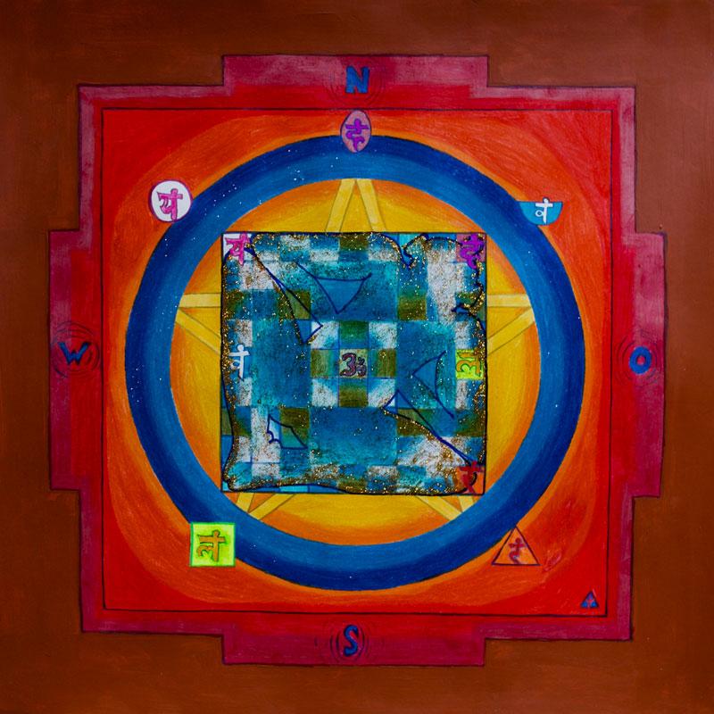 Gleicht Abweichungsdefekte eines Hauses zur Himmelsrichtung aus: das Korrektur-Mandala.