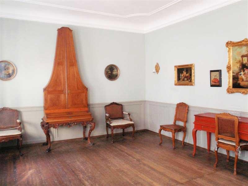 Das Musikzimmer im Goethe-Haus in Frankfurt a. Main