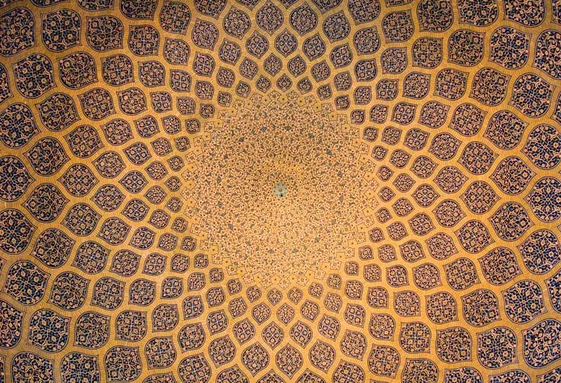 Kuppel einer Moschee in Isfahan, Iran