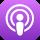 Logo des Apple-Podcasts