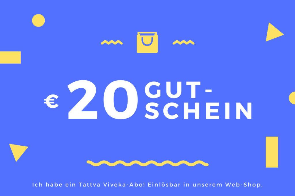 Gutschein über 20 € – einlösbar in unserem Online-Shop